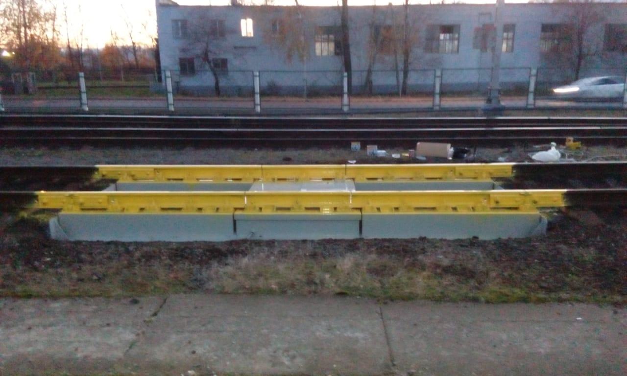 Вагонные весы ВТВ-Д на станции Чудово-Московское