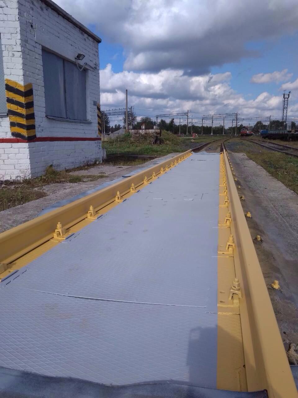 Вагонные весы рычажные РС-150Ц-13В на станции Кемь