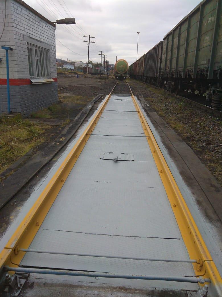 Вагонные весы рычажные РС-150Ц-13В на станции Мурманск